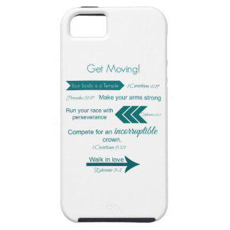 Get Moving Scriptures iPhone Case