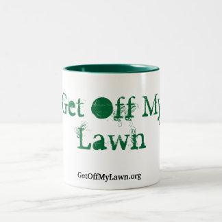 Get Off My Lawn! Two-Tone Coffee Mug