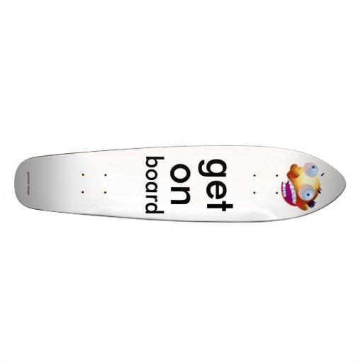 get on skate board deck