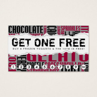 get one free GELATO Business Card