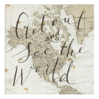 Get Out And See The World Quote Acrylic Print