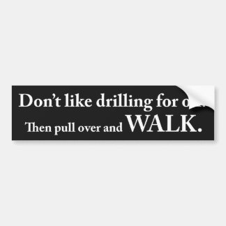 Get out and walk bumper sticker