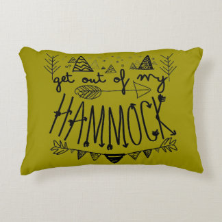 Get Out Of My Hammock (Personalized) Travel Decorative Pillow