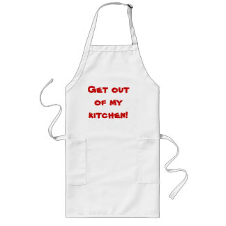 """Get out of my kitchen!"" Long Apron"