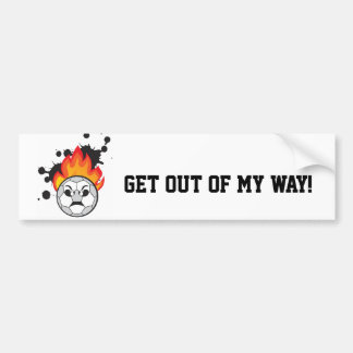 Get out of my way to soccer ball bumper sticker