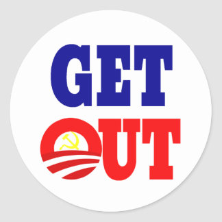 Get Out of the White House Round Sticker