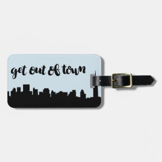 Get out of Town Luggage Tag with City Line