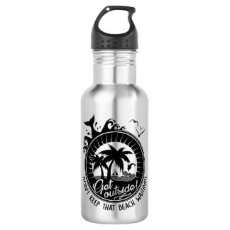 Get Outside Comical Beachy Nature Lover Pun 532 Ml Water Bottle