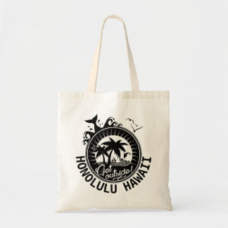 Get Outside Honolulu Hawaii Custom Beach Monogram Tote Bag