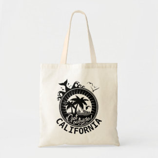 Get Outside in California Custom Monogrammed Beach Tote Bag
