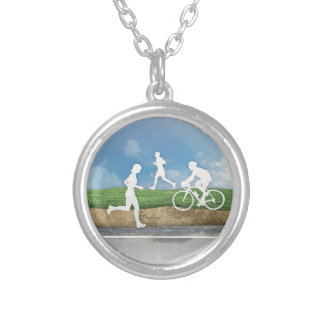 Get Outside Silver Plated Necklace