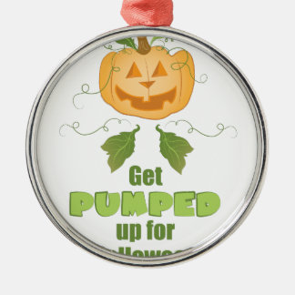 Get Pumped Silver-Colored Round Ornament