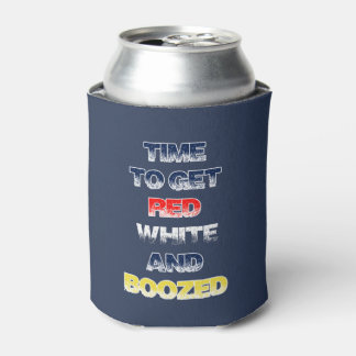 Get Ready July 4th Beverage Can Cooler