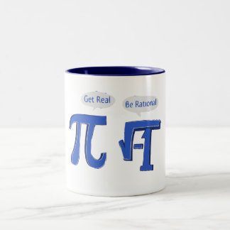 Get Real Be Rational Two-Tone Coffee Mug