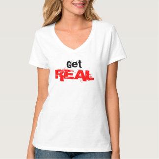 Get REAL Vneck Tshirt