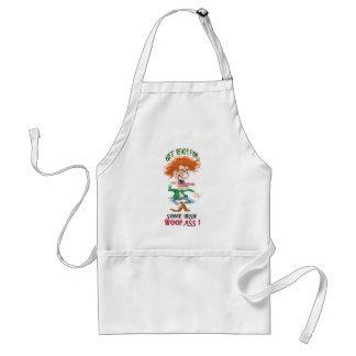 get reay for som irish woopass adult apron