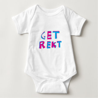 get rekt baby bodysuit