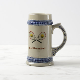 Get Smashed Tennis Beer Stein
