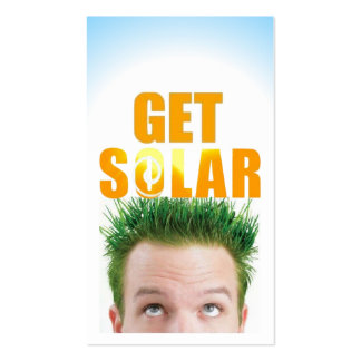 Get Solar Logo Ecofriendly Renewable Energy Business Card