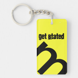 Get Started Double-Sided Rectangular Acrylic Keychain