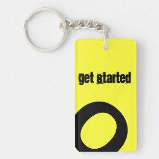 Get Started Acrylic Keychain