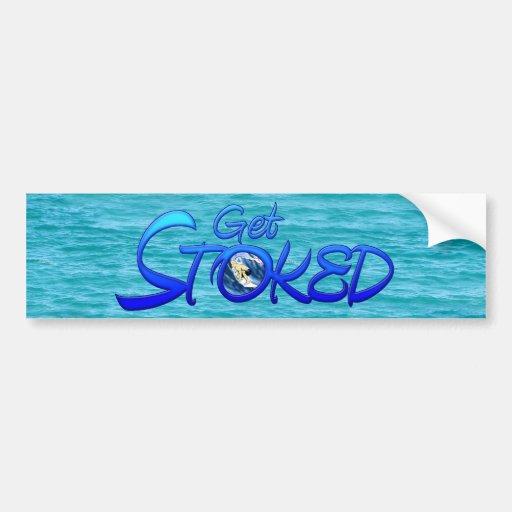 Get Stoked Bumper Sticker