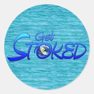 Get Stoked Classic Round Sticker