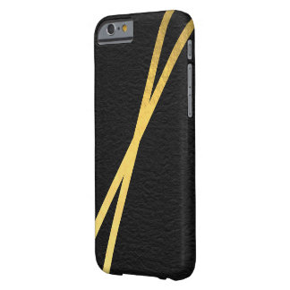 Get Striped Gold Barely There iPhone 6 Case