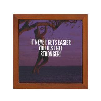 Get Stronger - Workout Motivational Desk Organizer