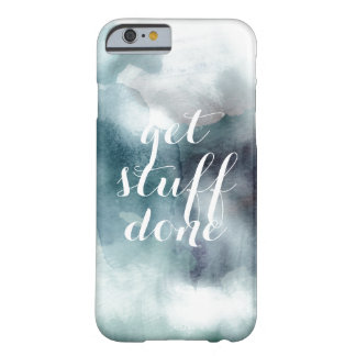 Get stuff done watercolor hipster blue nautical barely there iPhone 6 case