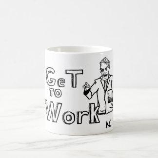 Get to Work Magic Mug