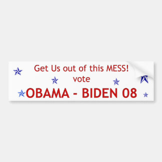Get Us Out of this Mess Bumper Sticker