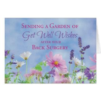 Get Well After Back Surgery, Garden Flowers Card