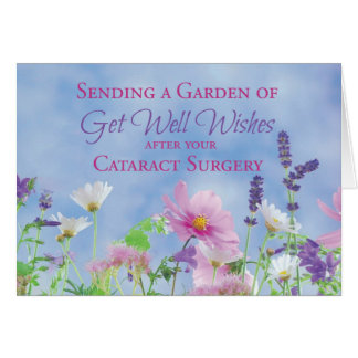 Get Well After Cataract Surgery, Garden Flowers Card