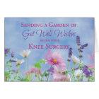 Get Well After Knee Surgery, Garden Flowers Card