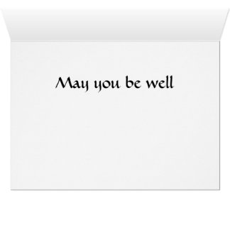 Get well Be well card