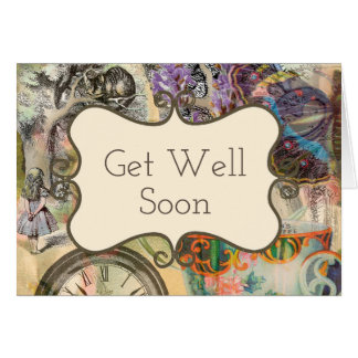 Get Well Card Alice Cheshire Cat Template Custom