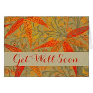 Get Well Card Bohemian Rustic Bamboo Art Print