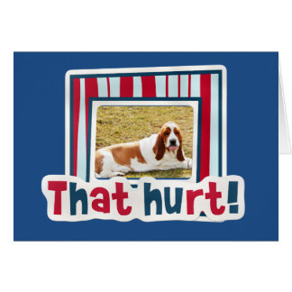 Get Well Card with Basset Hound