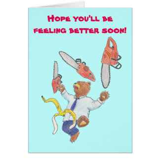 Get Well Card with Juggling Bear
