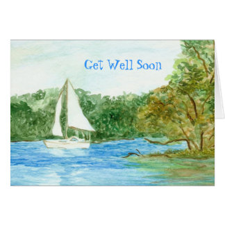 Get Well Card with Sailboat