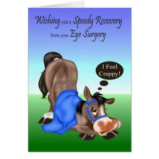 Get Well, Eye Surgery Greeting Card