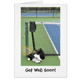Get well for tennis player card