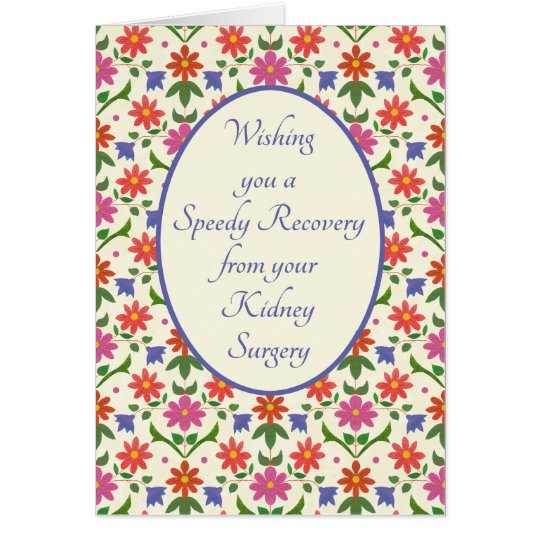 Get Well from Kidney Surgery Card, Rangoli Flowers Card