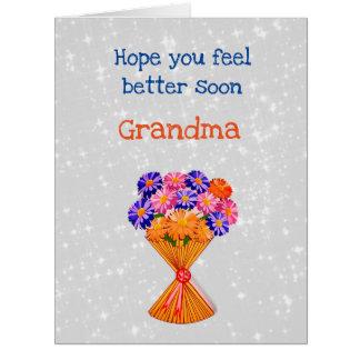 Get Well Grandma design Card