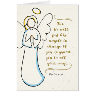 Get Well, He Will Put His Angels in Charge of You Card