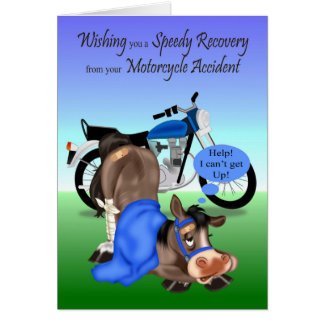 Get Well, Motorcycle Accident Card
