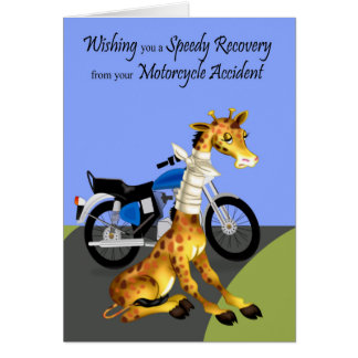 Get Well, Motorcycle Accident Greeting Card