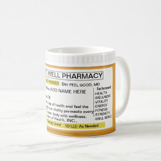 Get Well Prescription RX Coffee Mug