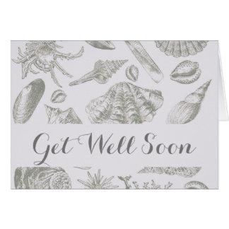 Get Well Seashell Vintage Custom Template Artwork